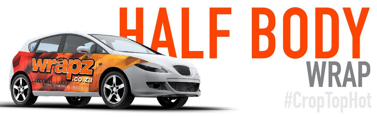 Half wrap car branding by Wrapz