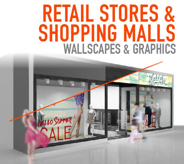 Retail Wall Graphic and Signs