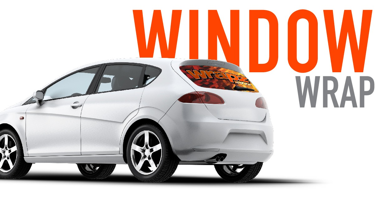 car wrap - back window car branding sticker decal