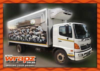 Truck rigid-body full colour side wrap